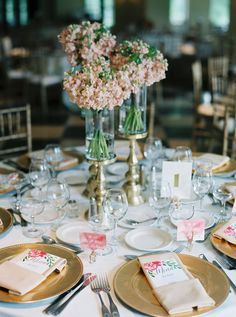 elegant reception - photo by Untamed Heart Photography http://ruffledblog.com/pink-watercolor-country-club-wedding