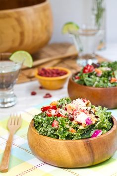Oh She Glow's Weekend Glow Kale Salad - I really need to switch out the spinach and lettuces; kale is so much healthier!