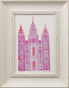 """""""Look to Eternity"""" - Salt Lake Temple (11x14 framed art) rather than generic 'princess art' ....fill a child's room with the temple. Love this idea."""