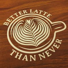 Custom vinyl decal/sticker for #latte lovers. Other #latteart options available! #coffee #coffeetime
