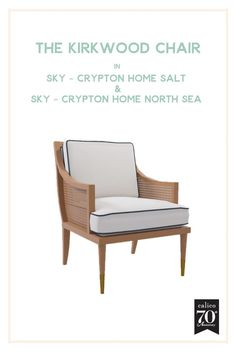 You know we live for a great cane chair, and the warmth and classic, vintage vibe of cane has never looked better than on the Kirkwood Chair. And pairing it with a classic white performance fabric like the beautiful Sky - Crypton Home Salt & a gorgeous na Classic Home Decor, Classic House, Cozy Corner, Contemporary Home Decor, Farmhouse Furniture, Weathered Wood, Farmhouse Design, Furniture Collection, Classic White