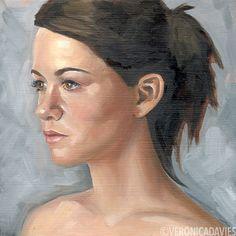 Portrait Study Oil, x Veronica, Mona Lisa, Study, Oil, Portrait, Artwork, Painting, Studio, Work Of Art