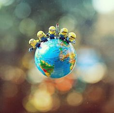Minions 'round the globe....  repinned by judithhall