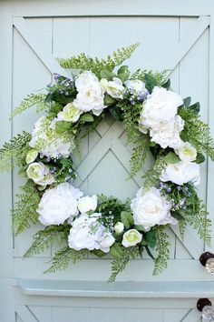 Spring Wreath Easter Decor Wedding Decor Summer Wreath