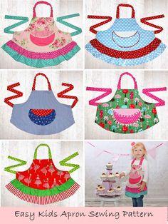 kids apron pattern, childrens apron pattern, apron sewing pattern