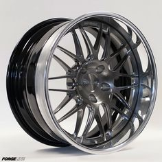 The Forgeline GX3 is normally a stepped lip Performance Series wheel, but we can also make the GX3 with a flat reverse lip in 18 and 19 inch diameters (thus known as the GX3P). This gorgeous example is finished with a Transparent Smoke center, Polished outer, and Gloss Black inner. Learn more about the GX3 at: http://www.forgeline.com/products/performance-series-step-lip/gx3-17-18-19-20.html