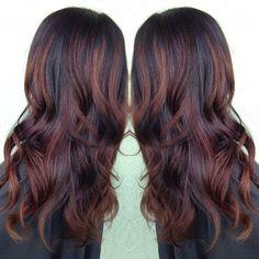 Best Ideas For Hair Auburn Highlights Balayage Ecaille Hair, Balayage Hair, Auburn Balayage, Brown Balayage, Hair Color And Cut, Brown Hair Colors, My Hairstyle, Pretty Hairstyles, Prom Hairstyles