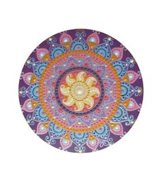 purple-pink Sun mandala
