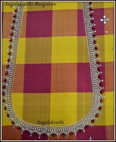 Angalakruthi Ladies and kids boutique in Bangalore , maggam work blouse back design, work blouse designs for pattu sarees,
