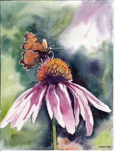 Kwiaty 9 by chatte-bleu #watercolorarts