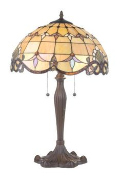 RIVER OF GOODS 4281 AMBER ALISTAR TABLE LAMP - Click image twice for more info - See a larger selection of pull chain table lamps at http://tablelampgallery.com/product-category/pull-chain-table-lamps/ - home, home decor, lamp, lighting , gift ideas.