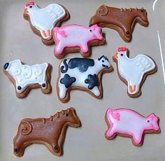 Farm Animal Mini Sugar Cookie Bites - 2 Dozen   thecookiemaven - Edibles on ArtFire