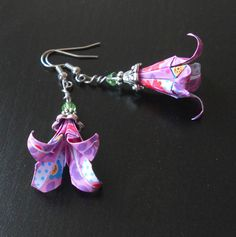 Origami earrings lily flower accented with by sakurascrafts, £10.00