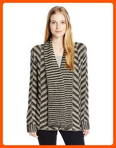 Rip Curl Junior's Viper Cardigan Chunky Sweater, Black, S - All about women (*Amazon Partner-Link)