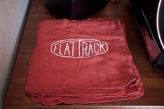 Flat Track tea towel - L A N D