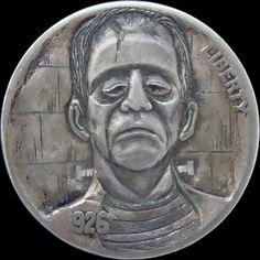 Frankenstein Hobo Nickel carver by mrthe