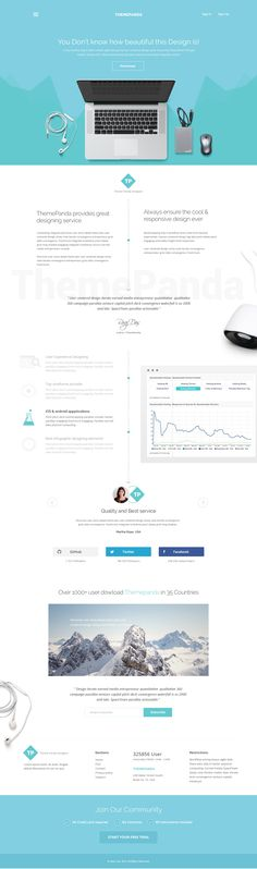 ThemePanda: Cool Landing Page Design After a long time come back to the Landing…