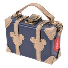 Trunk type mobile case Mickey Navy