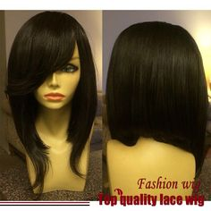 2016 Malaysian Hair Braided Straight Bob Wigs Black Synthetic Lace Front WigsNone Lace Wigs Heat Resistant Synthetic Hair Wigs
