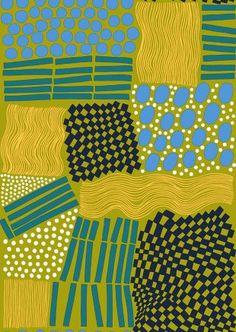 Marimekko gold green blue
