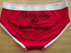 I'd get Sleazy for Ronald Weasley Harry Potter womens ladies Underpants Underwear on Etsy, $16.41 AUD