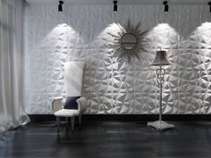 White Decorative PVC Wall Panels in Diamond Design - The Home Depot Vinyl Wall Panels, Tile Panels, 3d Panels, Embossed Wallpaper, Wallpaper Panels, 3d Wandplatten, Panneau Mural 3d, 3d Tiles, Interior Decorating