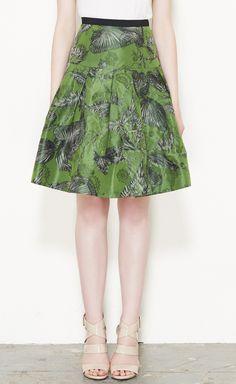 Oscar de la Renta Green, Black And Grey Skirt | VAUNTE