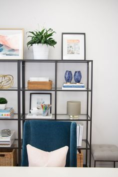 Exceptional How To Style Your Office Shelves