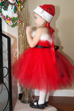 267de426f5cb Items similar to Kids Christmas Outfit | Girls Christmas Outfit | Gifts for  Kids | Girls Holiday Outfit | Christmas Dress | Santa Christmas Tutu Dress  on ...
