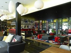 Contemporary Hotel: CitizenM London Bankside by Concrete Architectural Associates Design Hotel, Design Café, Restaurant Interior Design, Home Interior, Interior Architecture, Interior And Exterior, House Design, Restaurant Interiors, Boutique Hotels London