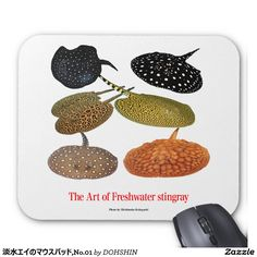 Mouse pad of fresh water thornback, No.01