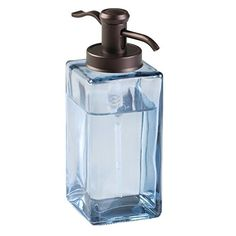 mDesign Glass Traditional Soap Dispenser Pump for Kitchen Bathroom Vanities  Navy BlueBronze * For more information, visit image link. Note:It is Affiliate Link to Amazon.