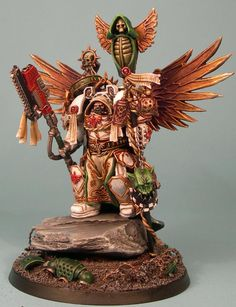 Warhammer 40k, Dark Angels Space Marines - awesome custom Belial of the Deathwing!