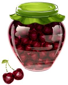 "Photo from album ""Варенья, соленья"" on Yandex. Vector Food, Food Clipart, Kitchen Clipart, Cute Food Art, Food Sketch, Jam And Jelly, Jam Jar, Food Illustrations, Food Items"