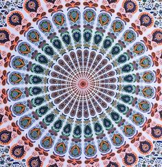 Made from 100% light-weight, breathable cotton fabric, the mandala tapestry is hand screen- printed in beautiful intricate motifs. Instantly transform your room, dorm or apartment with this cost effec