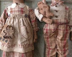Primitive Gingerbread Doll Pattern-SPPO Prim by stitchinsewprim