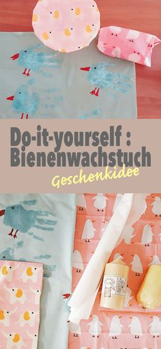 Wie macht ihr selber nützliche, ökologische Bienenwachstücher als Alternative… How do you make useful, ecological beeswax towels yourself as an alternative to plastic and aluminum? Here you can find the quick instructions! Upcycled Crafts, Cute Diy Crafts, Upcycled Home Decor, Diy Crafts To Sell, Easy Crafts, Tetra Pack, Farmhouse Style Decorating, Fabric Crafts, Diy Gifts
