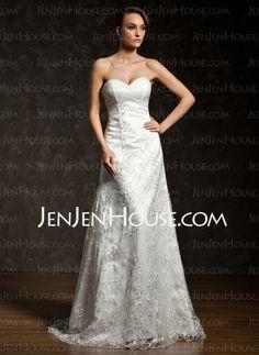 Wedding Dresses - $211.19 - A-Line/Princess Sweetheart Court Train Satin Tulle Lace Wedding Dresses With Ruffle Lace (002012909) http://jenjenhouse.com/A-Line-Princess-Sweetheart-Court-Train-Satin-Tulle-Lace-Wedding-Dresses-With-Ruffle-Lace-002012909-g12909