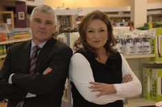 Presenter Norah Casey and boss Michael Ganly of Ganly's Hardware, Athlone.