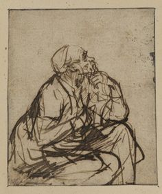 Man seated by Rembrandt van Rijn Life Drawing, Figure Drawing, Drawing Sketches, Art Drawings, Gesture Drawing, Graphite Drawings, Rembrandt Etchings, Rembrandt Drawings, Baroque Art