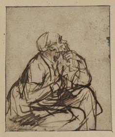 Man seated by Rembrandt van Rijn