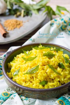 Indian Rice Recipe - looks good....if we like the spices....