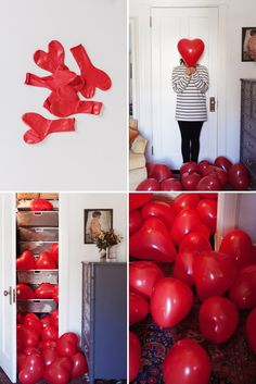 Balloons in a Closet... Love the idea of surprising a little one with this simple pleasure!