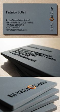 Unique thick raised business cards by Fabio Milito  <span class='details by'>By <a href='http://www.