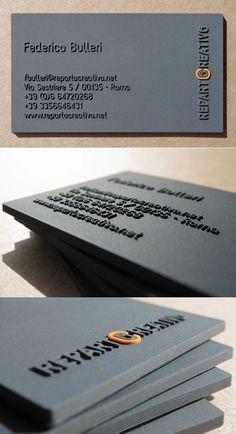 Unique thick raised business cards