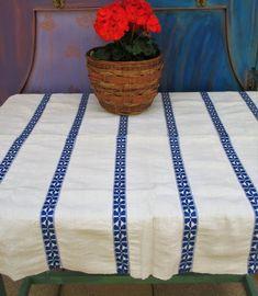 European linen, rear antique handloomed pure flax linen tablecloth, homespun rustic flax linen tablecloth, organic linen from