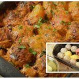 Fantastické pečené fašírky so zemiakmi a smotanovou omáčkou na jednom plechu: Vynikajúci a sýty obed pre celú rodinu:! Minis, Curry, Ethnic Recipes, Food, Kalay, Curries, Meals