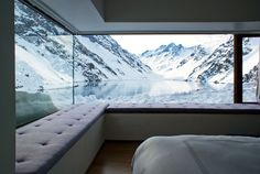 Completed in 2008 in Los Andes, Chile. Images by Erieta Attali. Chalet is located in the Andes Mountains at 2900 meters from the Portillo Hotel and a few miles from Mount Aconcagua. Interior Architecture, Interior And Exterior, Interior Design, Room Interior, Interior Photo, Window View, Window Seats, Window Wall, Minimalist Home