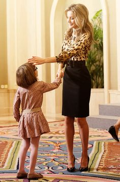 misshonoriaglossop:  Princess Letizia of Spain attends an audience at Zarzuela Palace on October 21, 2013 in Madrid.