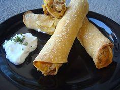 Baked Creamy Chicken Taquitos - menumanaged.blogspot.com